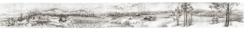 panorama drawing Siberia